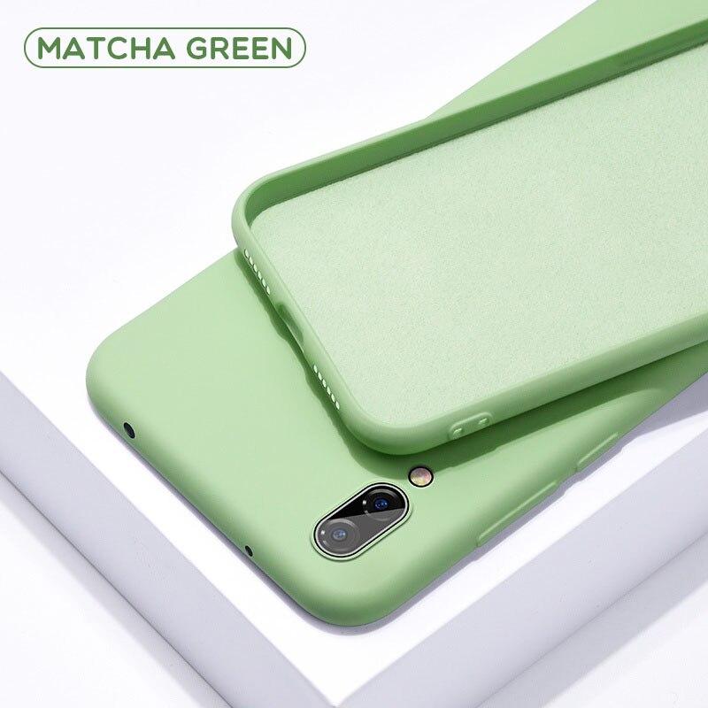 Однотонный силиконовый чехол для huawei P20 Lite P Smart P30 Pro mate 20, чехол для Honor 8X Nova 3i 9 Lite 10 20 Pro Y5 Y9 - Цвет: Green