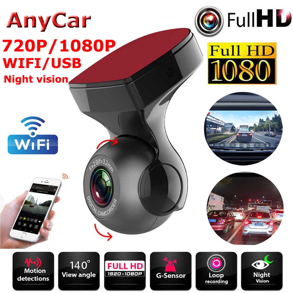Auto Dvr Fhd 1080P Wifi Dash Cam Dvr Dash Camera Fhd Recorder Wifi G-Sensor Gps Mini Dash camera Night Registrator Recorder