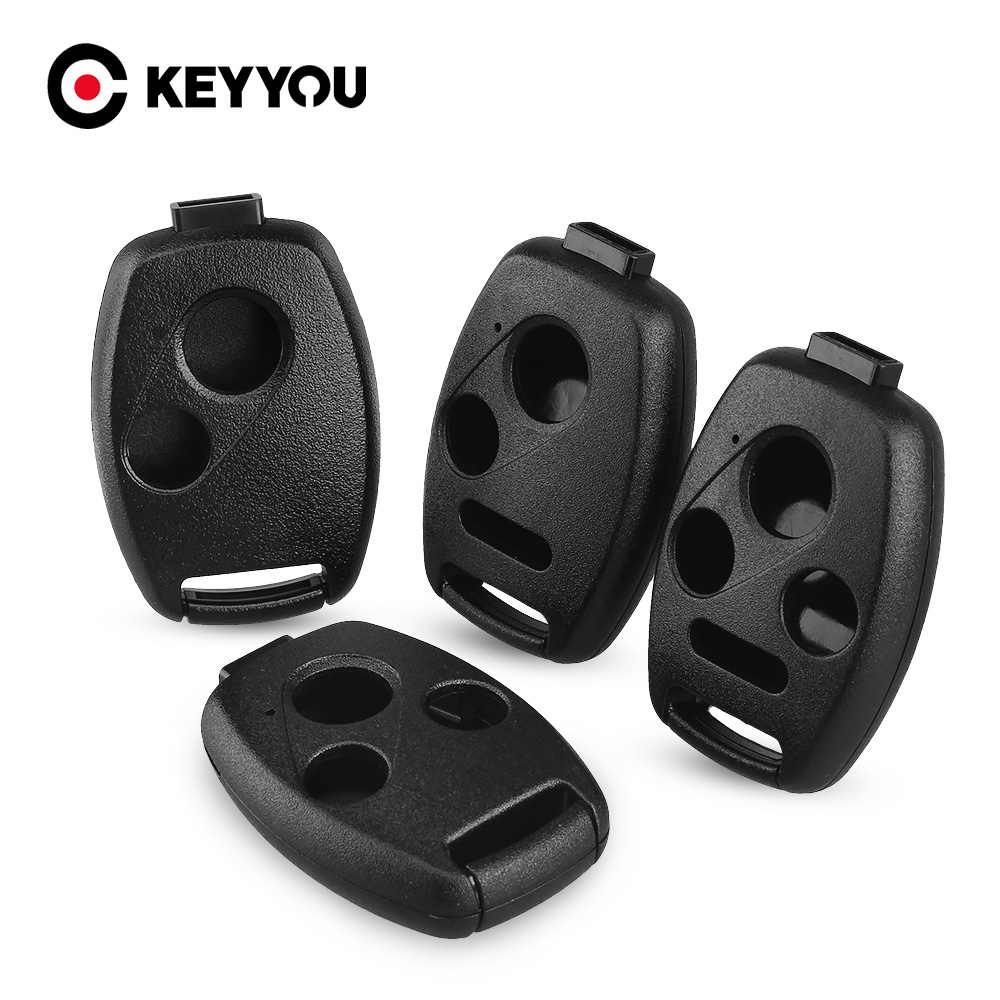 KEYYOU Replacement 2/3/4 Buttons Remote Car Key Case Shell For Honda Accord Civic CRV Pilot Fit Insight Ridgeline 2007 - 2013(China)