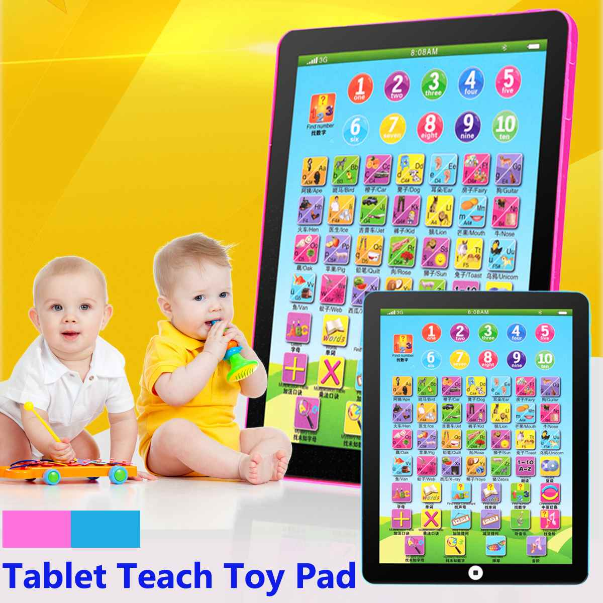 Kid Child Learning English Educational Computer Mini Tablet Teach Toy image
