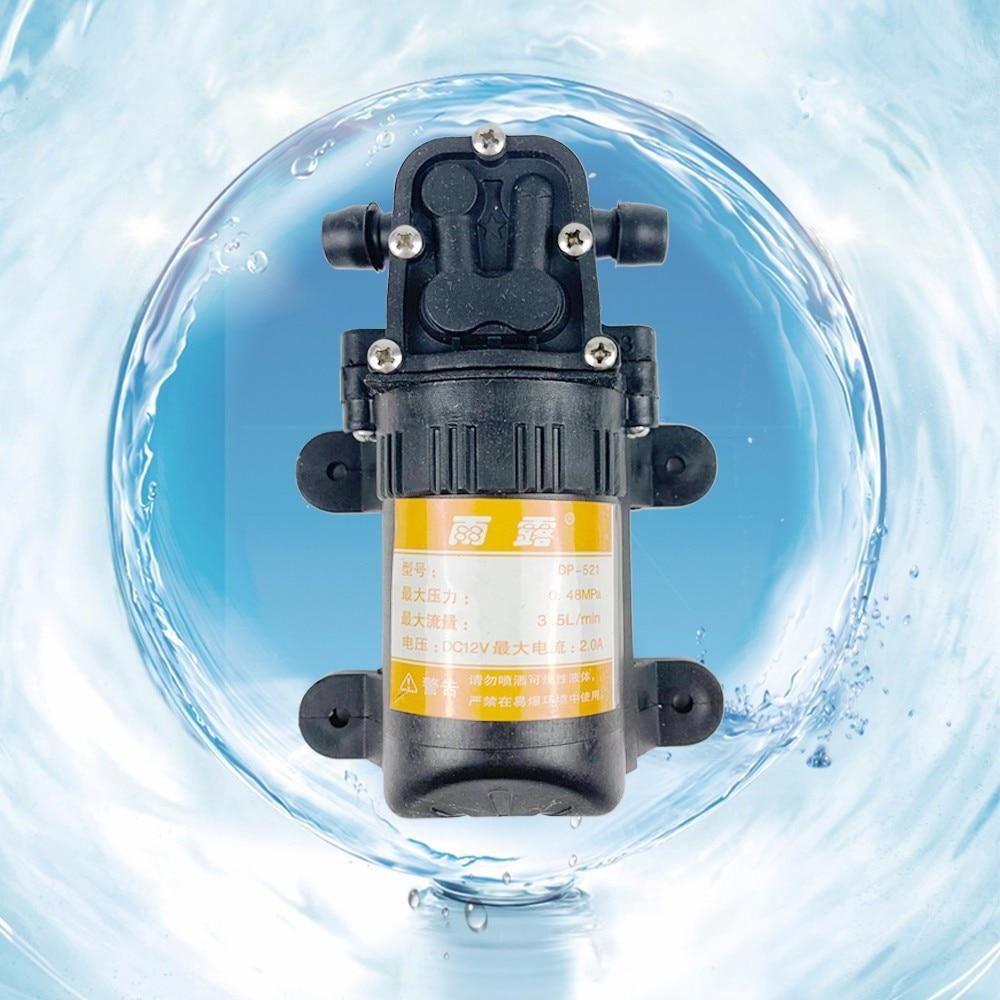 70PSI 3.5L/min DC 12V Durable Black Micro High Pressure Diaphragm Water Sprayer Car Wash 12 V Agricultural Electric Water Pump