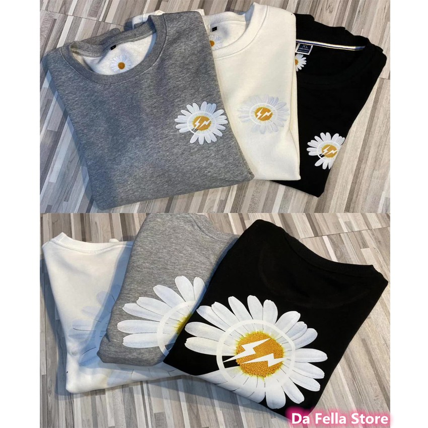 2020 New Daisy Hoodies Men Women High Quality Daisy Hoodie G-DRAGON Hip Hop Front Back Flower Sweatshirts Fragment  Japan