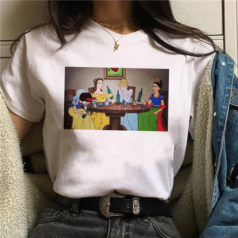 90s Graphic Cartoon Tshirt Fashion Top Tee Female New Grunge Aesthetic Funny TShirt Women Korean Style T-shirt Harajuku Ullzang