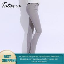 Jeans Pants Feminino Black Large-Size Woman Skinny for White Candy Femme