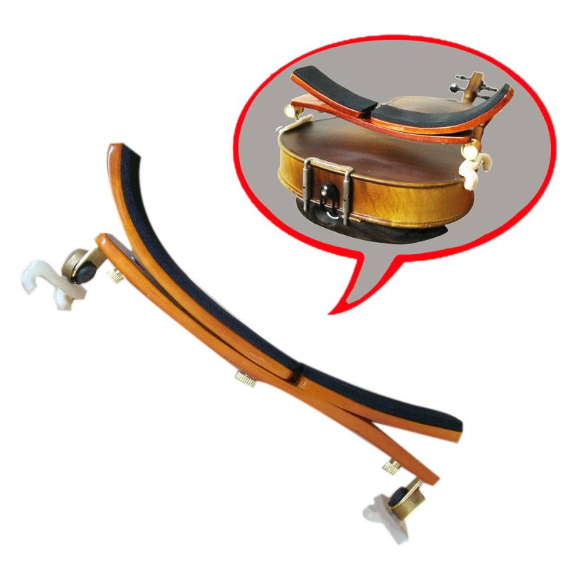 Violin Shoulder Pad Multi-Position Adjustable Maple Shoulder Pad German Style Violin Shoulder Pad For 3/4-4/4 Violin Or 14 Inch-