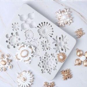 Euporean форма для ювелирных изделий, силиконовая форма, помадка, инструмент для украшения торта, клейкая паста, сахарный шоколадный формы для в...