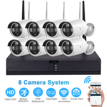 2MP 1080P CCTV System 8CH HD Wireless NVR Kit Outdoor Waterproof IR Night Vision IP Wifi Camera Security System Surveillance Kit jennov 8ch wifi cctv video surveillance kit wireless security camera system cctv system 1080p 2mp hd nvr app eseecloud ip cam