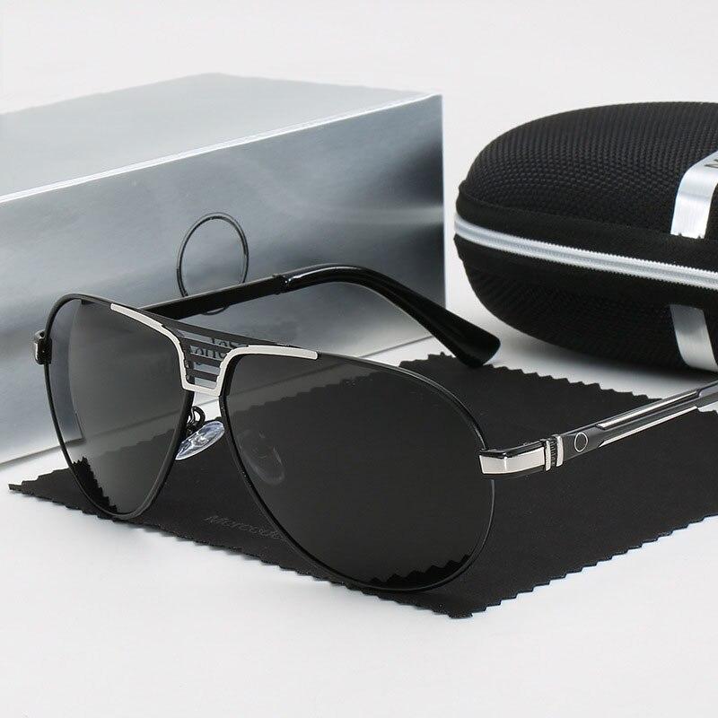 Polarized Sunglasses Men Brand Designer Mercede 0977 Metal Retro Men Driving Fishing Glasses UV400 Pilot Sunglass Oculos De Sol