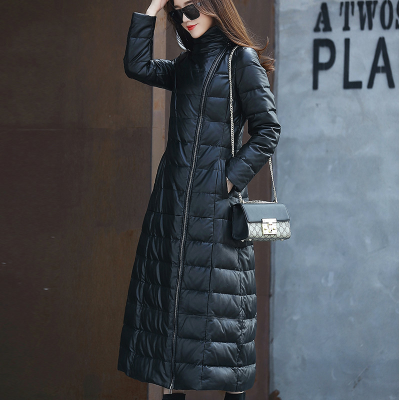 Real Genuine Leather Jacket Autumn Winter Coat Women Clothes 2020 Korean Vintage Sheepskin Dwon Coat Long Women Tops ZT3416