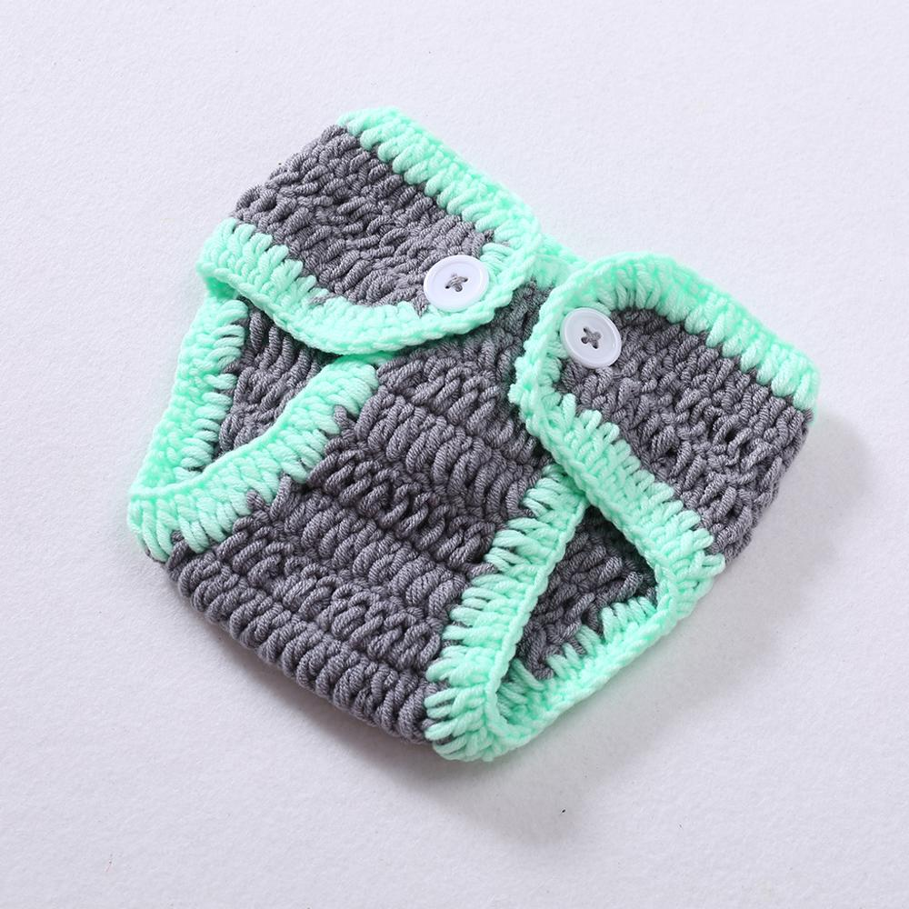 Lovely Elephant Costume Handmade Knitting Studio Photography Props Newborn
