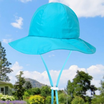 Dziecięca ochronna powłoka chroniąca przed słońcem rybak czapka letnia ochrona UV kapelusz typu Bucket szerokie rondo kapelusz przeciwsłoneczny na plażę regulowany pasek pod brodą Cap tanie i dobre opinie CN (pochodzenie) Dobrze pasuje do rozmiaru wybierz swój normalny rozmiar Dziewczyny Stałe