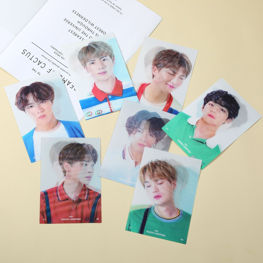 1 PCS Kpop Bangtan Boys 2020 New 11 * 16.5cm Photo Card Stray Kids SEASON'S GREETINGS 3D Card Flash Card Change Card