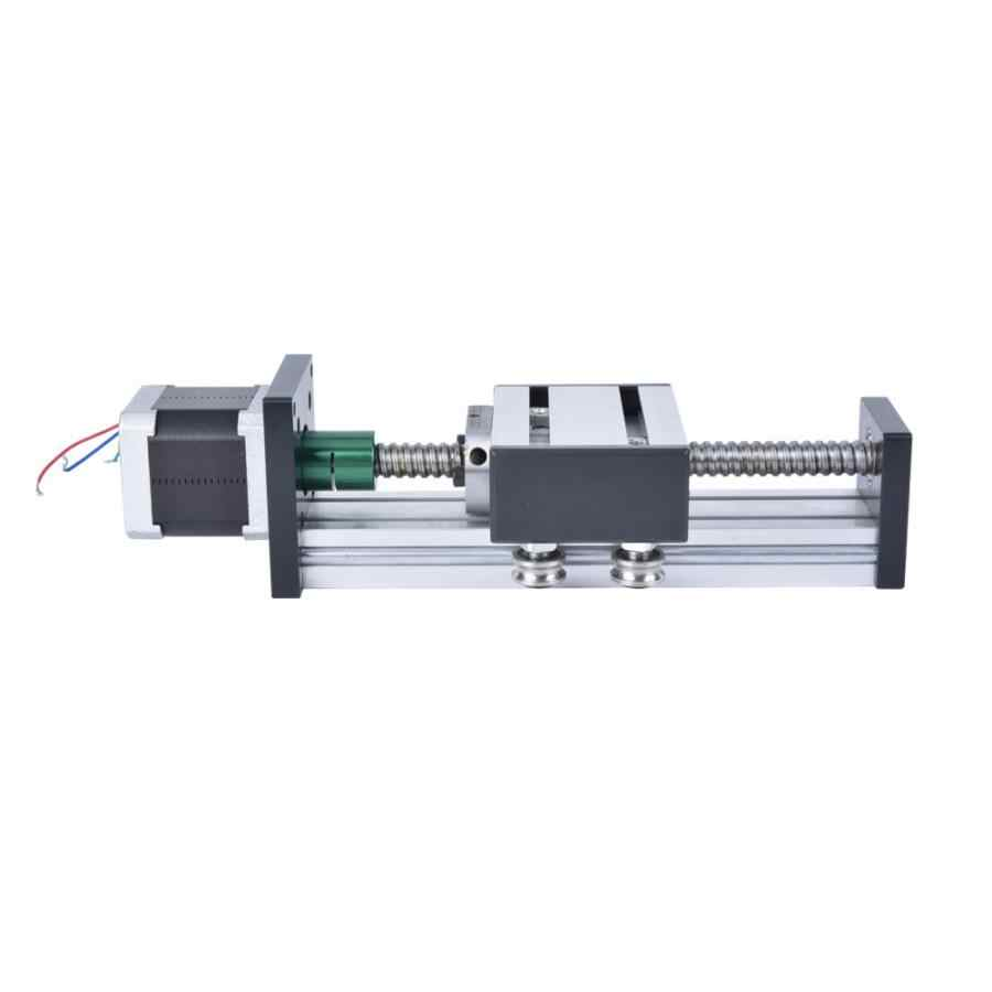 100mm Stroke Single Shaft Ball Screw Linear Guide Rail CNC Sliding Table w/ 42 Motor Linear Rail Carriage CNC Part