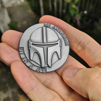 цена на Star Wars The Mandalorian Collect Metal Coin Bounty Hunter Boba Fett Props