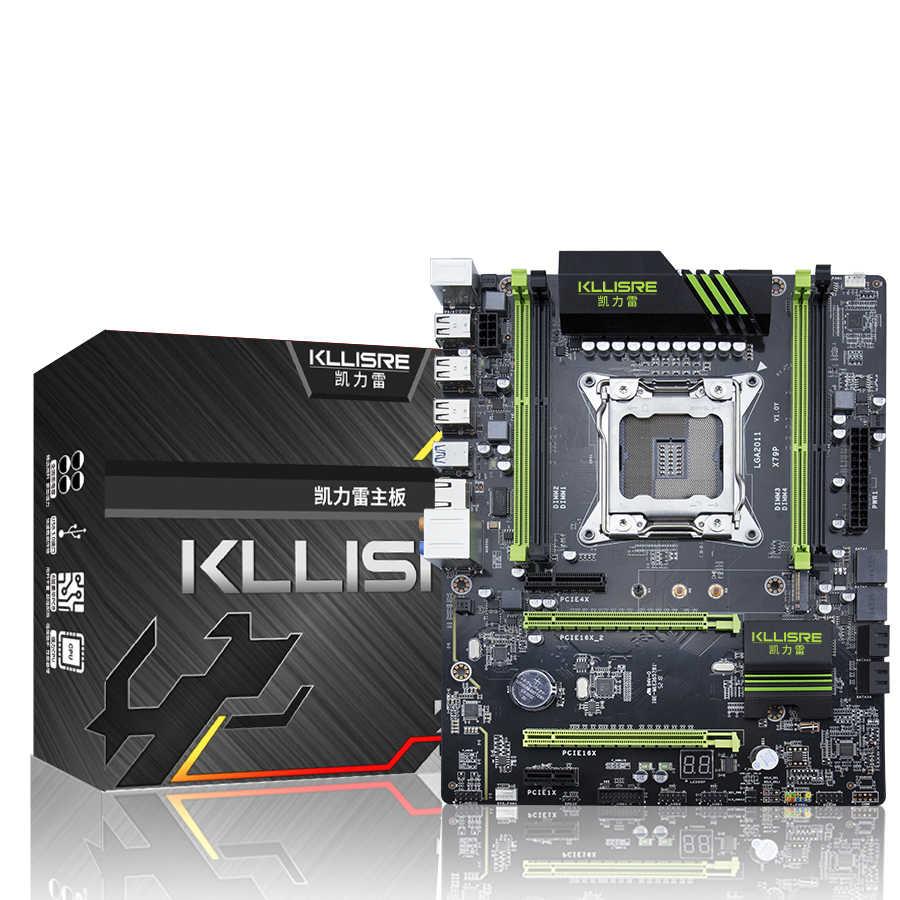 Kllisre X79 Papan Utama LGA2011 ATX USB3.0 SATA3 Pci-e NVME M.2 SSD Mendukung REG ECC Memori dan Xeon E5 Prosesor