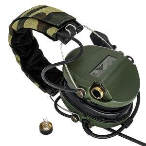 Image 4 - سماعات رأس التكتيكية Sordin للصيد والرماية سماعة لاقط العسكرية للحد من الضوضاء سماعات حماية لسماع FG + U94 2 Pin ptt
