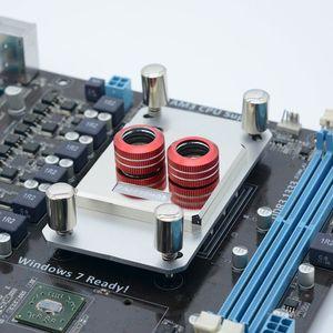Image 5 - Freezemod フルメタルコンピュータ cpu 水冷ブロック 0.5 ミリメートルマイクロチャンネルサポート AM4 すべて銅。AMD JB3D