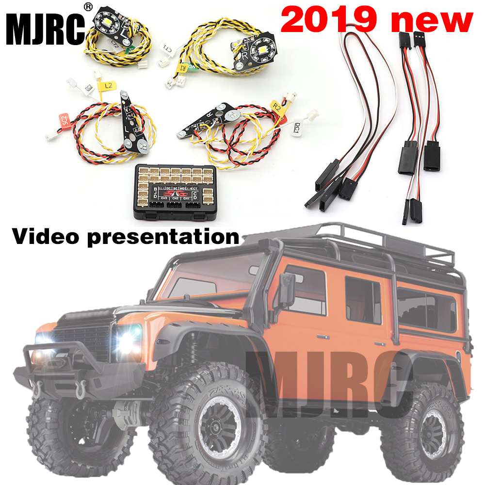 TRX4 RC Car Front Rear LED Lights Lamp Group Headlights, Turn Signals, Brake Lights For 1/10 RC Crawler Traxxas TRX-4 Defender