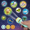 Anime Lashlight Projector Baby Sleeping Story Book FTorch Lamp Toy Early Education Toy For Kid Holiday Birthday Xmas Gift