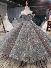 Robe de première Communion pour filles, robe de bal de spectacle, robe de mariage à paillettes, pour spectacle de Piano