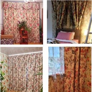 Image 4 - Cortinas para telas terminadas, liquidación especial, sala de estar, dormitorio de lujo, jardín de estilo europeo