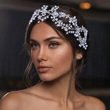 Crystal Tiara Rhinestone Headdress Bridal Headpieces Wedding Hair Accessories Bridal Headwear Wedding Tiaras Women Hair Jewelry