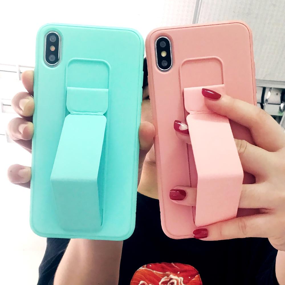 KISSCASE Magnetische Halterung Telefon Fall Für iPhone 11 11Pro Max XR XS MAX X Weiche Standplatz Fall Für iPhone 7 8 6 6S Plus Halter Abdeckung