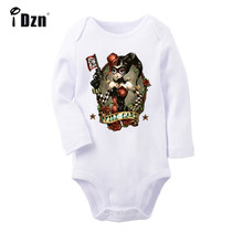 The Clown JOKER Girl Bang Wild Card X-Men Punk Storm Ororo Munroe Printed Newborn Baby Outfits Long Sleeve Jumpsuit 100% Cotton(China)