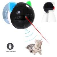 Juguete automático para gatos, láser recargable por USB, juguete interactivo para gatos, puntero LED giratorio, bolígrafo electrónico móvil, divertido juguete para gato de juguete Chase