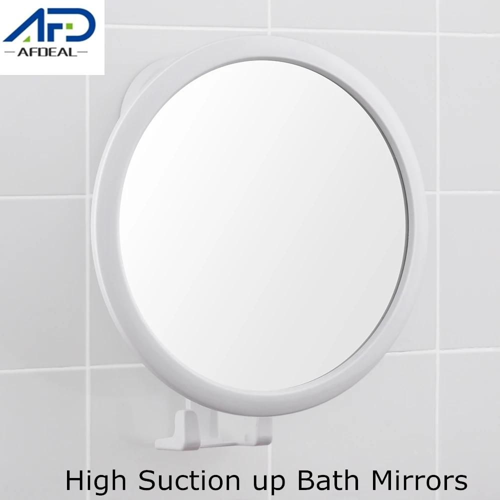 White High Suction Cup Bathroom Mirror Adjustable Rotation Cosmetic Mirror  Drill free Bath Shower Mirrors Bathroom Hardware