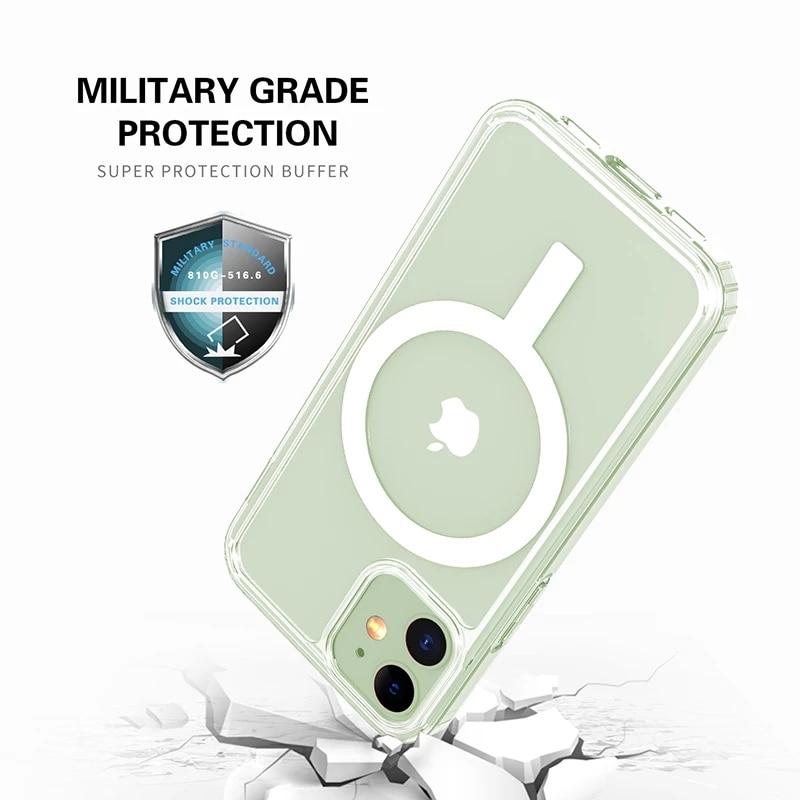 Transparent Magnetic Magsafe Card Holder case for iPhone 12 Mini