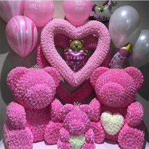 Flower Foam Teddy Valentines-Day-Gift Rose-Bear Bear-Rose Girlfriend Birthday-Party-Decoration