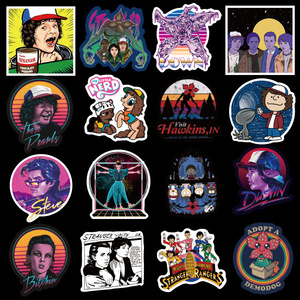 Image 2 - 10/20/30/40/50pcs Pack Anime Stranger Things Stickers Waterproof PVC Guitar Skateboard Decals Luggage Laptop Kids Toy Sticker