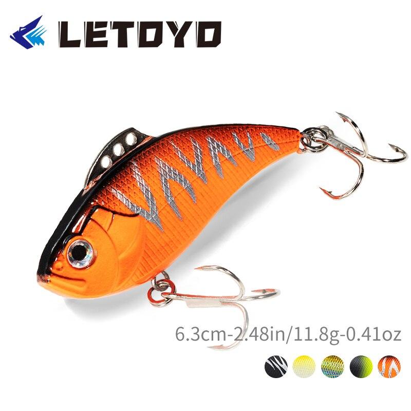Vibração da vibração 6.3cm 11.8g da vibração da vibração de letoyo lhb019 vib que sinnking a isca dura abs material cambotas lipless dos peixes para a água salgada