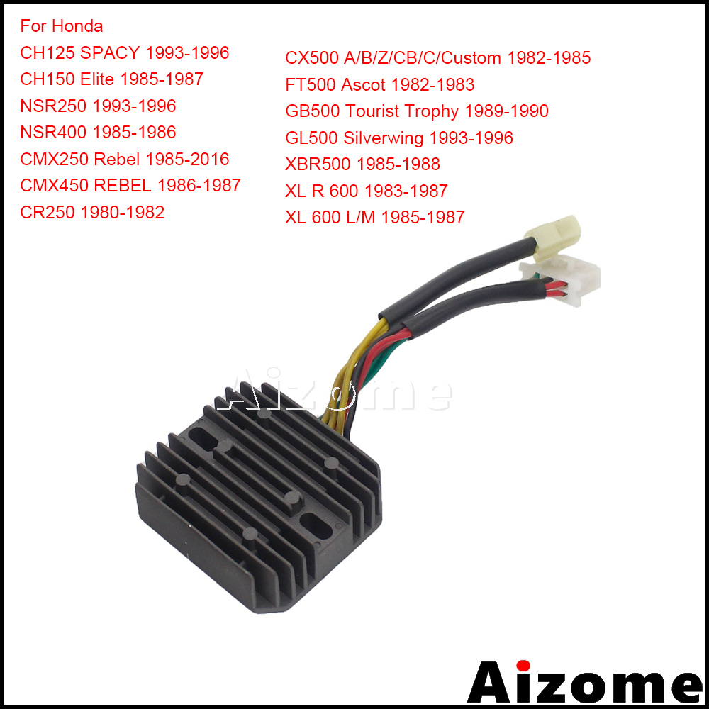 Motorcycle 31600-415-008 Regulator Rectifier For Honda CH125 CH150 CMX <font><b>NSR</b></font> CR <font><b>250</b></font> NSR400 CMX450 CX FT GB GL XBR 500 XLR600 XL600 image