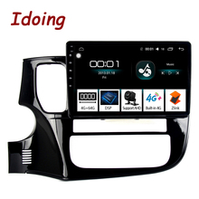 """Idoing 10.2 """"4G + 64G 8 Core Auto Android Radio Multimedia Player Fit Mitsubishi Outlander 2014 2017 2,5 D IPS GPS Navigation"""