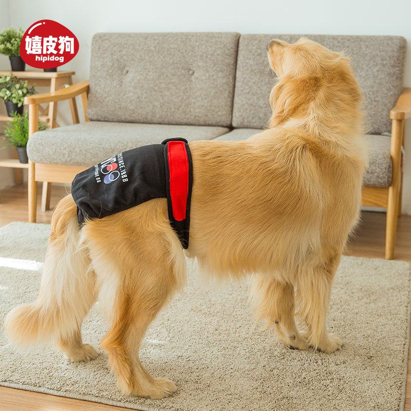 Big Dog Menstrual Panties In Large Aunt Towel Pet Diapers Female Canine Only Baby Diapers Golden Retriever Safe Sanitary Panty