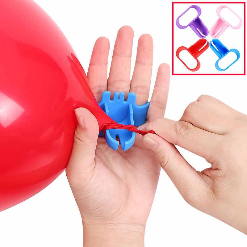 Nova Alta Qualidade Rápida Prendedor Facilmente Nó Ferramenta Atador Balão Balão De Látex Balão de Festa de Casamento Acessórios DropShipping