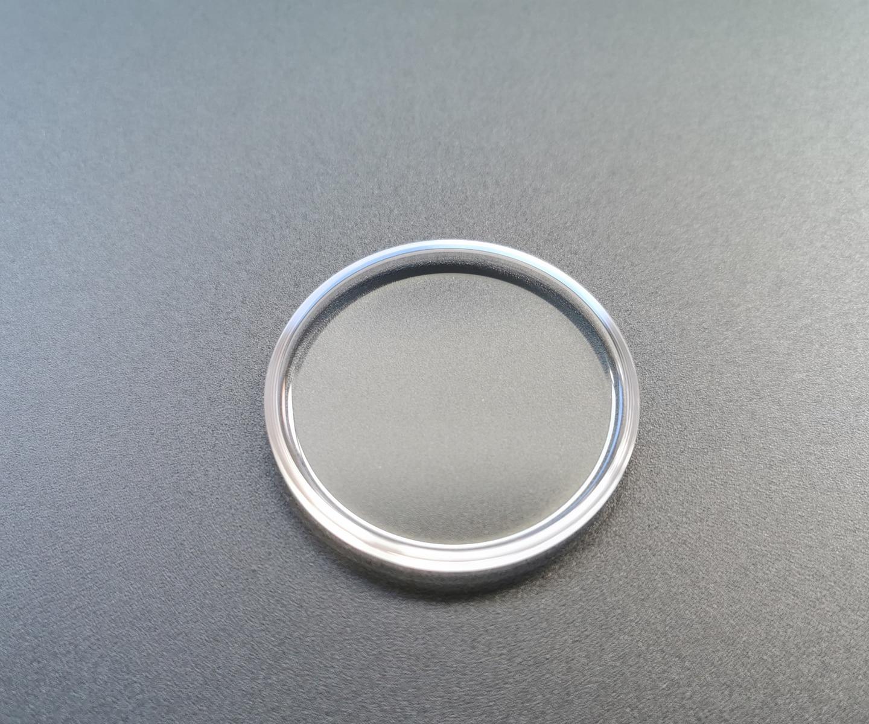 safira cristal diâmetro 36.5mm bolha côncava vidro antiscratch