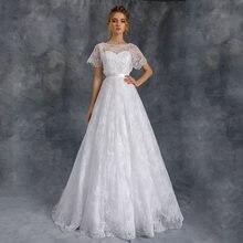 Скромные кружева line Свадебные платья 2021 Высокое качество