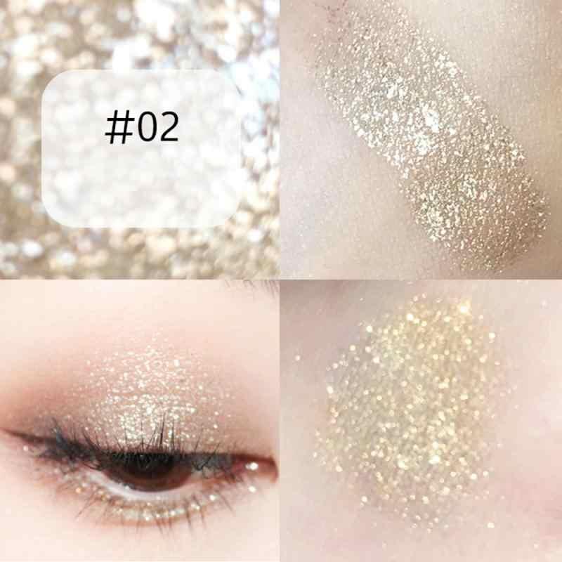 5 色のメイクアップアイシャドウ 1pc 真珠光沢金属グリッターアイシャドウシングルブレンドスパークリングスムーズな目化粧品 TSLM2