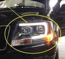 تايوان 1999 ~ 2004y سيارة bupmer رئيس مصباح للسيارة الجيب شيروكي مصباح أمامي للسيارة اكسسوارات LED DRL HID زينون الضباب شيروكي كشافات