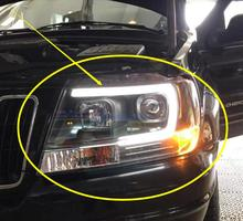 TaiWan made 1999~2004y car bupmer head light for Jeep Cherokee headlight car accessories LED DRL HID xenon fog Cherokee headlamp