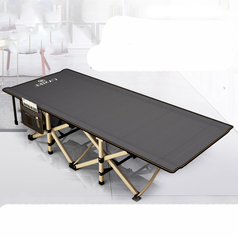 Folding Bed Single Office Siesta Bed Portable Outdoor Camp Bed Simple Adult Siesta Hospital Escort
