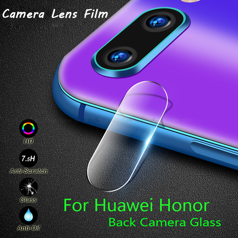 Back Phone Len Tempered Glass for Honor 8X 7X 6X Play Camera Lens Film Screen Protector for Huawei Honor 10 Lite View 20 9 8 Pro image