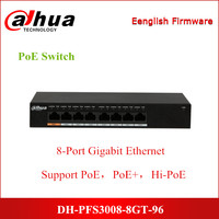 Dahua PoE Switches PFS3008 8GT 96 8 Port Gigabit Ethernet PoE Switch Support Hi PoE 60W IEEE802.3af and IEEE803.3at Power Switch