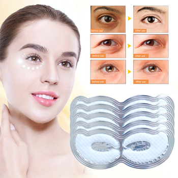 Efero 1/3/5pcs Collagen Crystal Eye Mask Anti Aging/Dark Circles/Puffiness Moisturizing Masks Colageno Gel Pads TSLM1