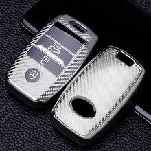 Fibra de carbono tpu caso capa chave do carro escudo protetor para kia ceed rio rio5 sportage r k3 kx3 k4 k5 ceed sorento cerato optima