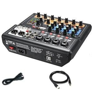 Профессиональная 8 каналов аудио микшерная консоль мини USB цифровой DJ Миксер с PAD переключатели DSP эффект для караоке PC Meeting(US Pl