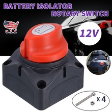 12V Car Battery Isolator Disconnect Rotary Switch Cut On/Off For RV Truck Boat Universal